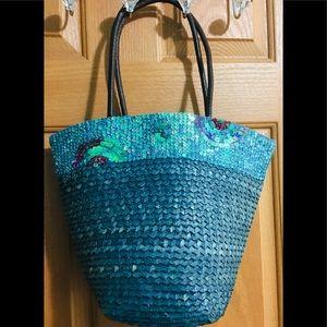 Anthropologie straw bag